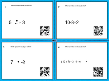 Order of operations and dividing fractions and decimals Task Cards Checkpoint 8