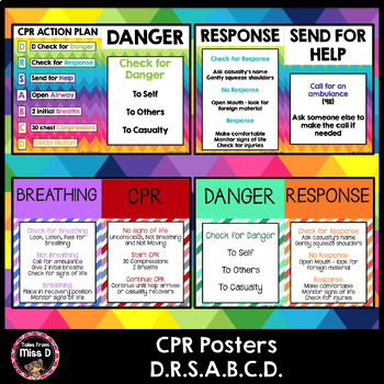 First Aid - CPR Posters