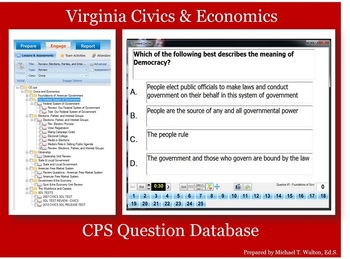 CPS Question Database for Virginia Civics & Economics