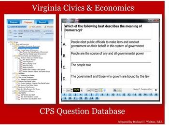CPS Question Database for Virginia Civics & Economics