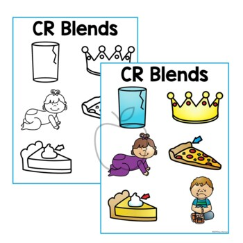 CR Blends Posters/Coloring Page w/out words