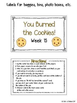 CR Success 2nd Grade Week 15 Burnt Cookies! A Slinky Vowels Game