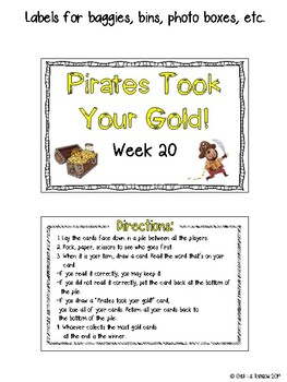CR Success 2nd Grade Week 20 Pirates took your Gold! Game