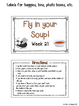 CR Success 2nd Grade Week 21 Fly in your Soup! Yellow Spellings Game