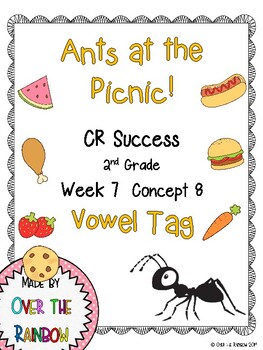 CR Success 2nd Grade Week 7 Ants at the Picnic! Vowel Tag Game