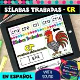 CR Syllables in Spanish - Sílabas Trabadas CR - Boom Cards