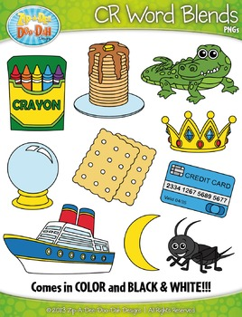 CR Word Blends Clipart Set — Includes 20 Graphics!