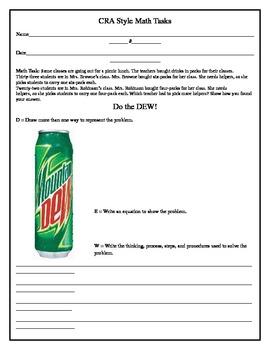 CRA Math Task (3rd Grade) 1-1