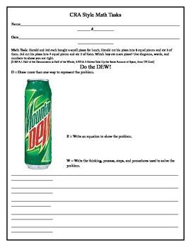 CRA Math Task (3rd Grade) 1-2