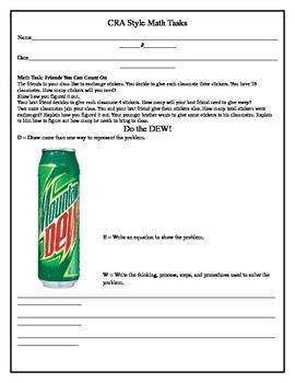 CRA Math Task (3rd Grade) 2-1