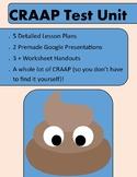 CRAAP Test Unit - 5 Day Detailed Lesson Plans for STEM Dis
