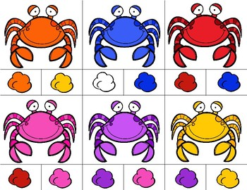 CRABS Color Match Clip It {A Beginning Work Task)