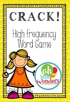 CRACK! High frequency word game