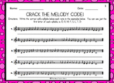 CRACK THE MELODY CODE!  MELODIC DECODING (3 PAGE SET) DISTANCE LEARNING
