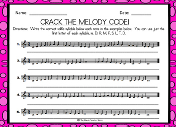 CRACK THE MELODY CODE! SOLFA MELODIC DECODING ACTIVITY FOR CHORUS