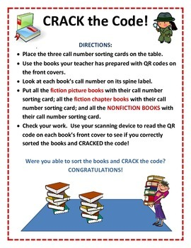 CRACK the Code Call Number/QR Code Center Activity