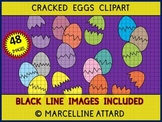 EASTER CLIPART PUZZLE TEMPLATES (CRACKED EGGS PUZZLES CLIPART)