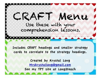 CRAFT Board-Isabella Classroom Theme