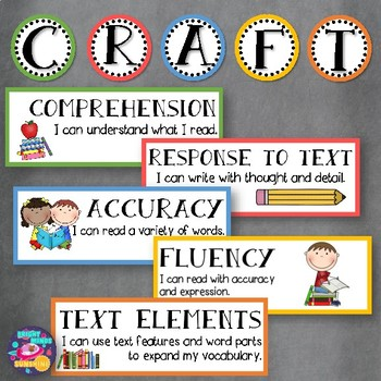CRAFT Posters and Strategies (Bold Colors)