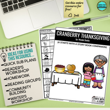 CRANBERRY THANKSGIVING read aloud lessons