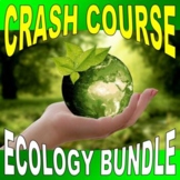 CRASH COURSE - ECOLOGY BUNDLE (12 video sheets / science distance learning)