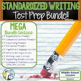 Standardized Writing Test Preparation Bundle   Middle School   Print and Digital
