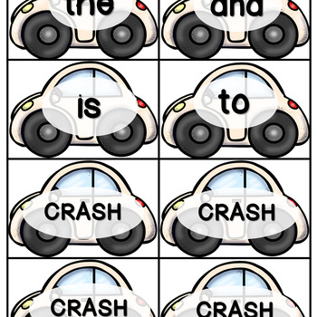 CRASH! High-Frequency Words - Sight Words - Homework for K-5