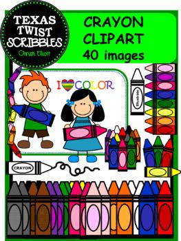 CRAYON Clip Art with 40 Pieces