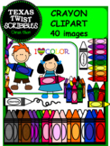 CRAYON ClipArt {Texas Twist Scribbles}
