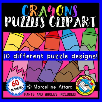 CRAYON PUZZLES CLIP ART: SELF-CORRECTING PUZZLE TEMPLATES: BACK TO SCHOOL