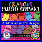 CRAYON PUZZLES CLIP ART: SELF-CORRECTING PUZZLE TEMPLATES: