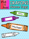 Crayons Name Tags