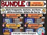 Activités de mots fréquents - mots usuels - French sight words - BUNDLE