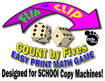 Skip Counting Game Count by fives JUST PRINT and PLAY