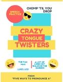 CRAZY TONGUE TWISTERS