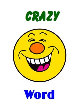 CRAZY Word  Set 001 (Fry Words 1 to 10)