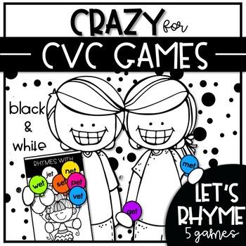 CRAZY for CVC GAMES {Let's Rhyme!}