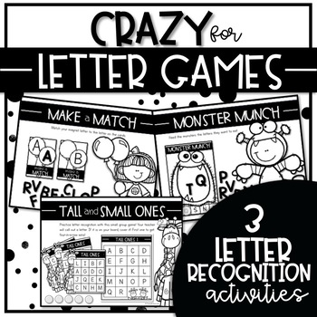 CRAZY for LETTER GAMES SET 1 {Alphabet Activities to Teach Letter Recognition}