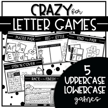 CRAZY for LETTER GAMES SET 3 {Activities to Teach Uppercase Lowercase Matching}