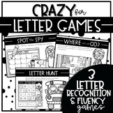 CRAZY for LETTER GAMES SET 4 {Activities to Teach Letter Recognition Fluency}