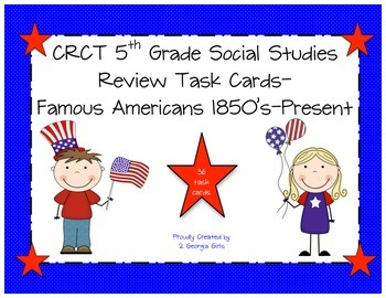 GA Milestones 5th Grade Social Studies Review Task Cards
