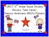 GA Milestones 5th Grade Social Studies Review Task Cards
