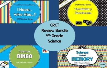 4th Grade Science GA Milestones Review Bundle