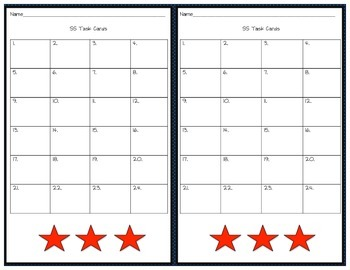 GA Milestones 5th Grade Cold War and Civil Rights Era Review Task Cards