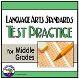 TEST PREP Language Arts Standards Practice Test for Middle Grades