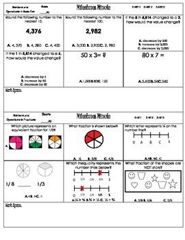 Test Prep-3rd Grade Common Core Math Standards GA Milestones