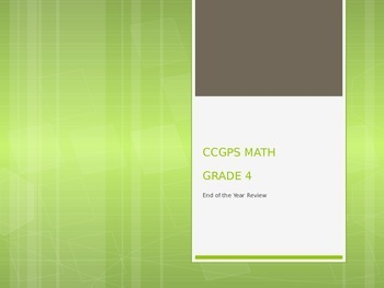 Common Core / GSE Math Review (All Areas)