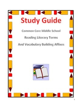 Common Core Middle School Reading, Grammar and Vocabulary Study Guide