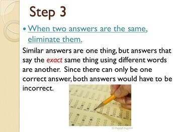 Reading Test Prep - Test Taking Strategies PowerPoint with Basic Terms