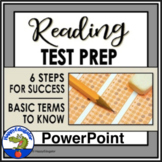 Reading Test Prep - Test Taking Strategies PowerPoint w/ Basic Terms & Review
